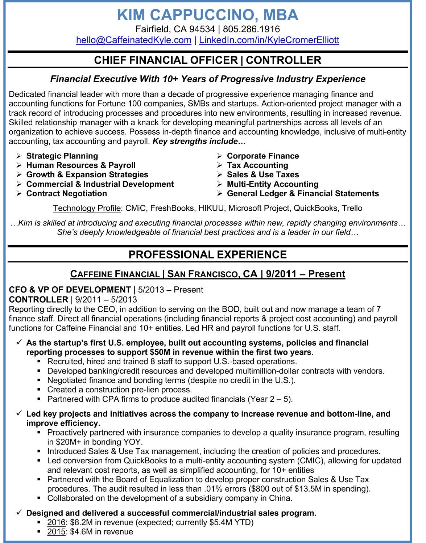 Resume Samples Kyle Elliott Consulting